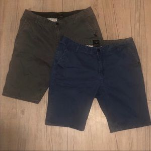 Lot of 2 pairs Quiksilver shorts gray Blue 36